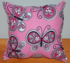 Paisley Butterfly Pillow HANDMADE  in USA Butterflies Paisley Style New ... - $9.99
