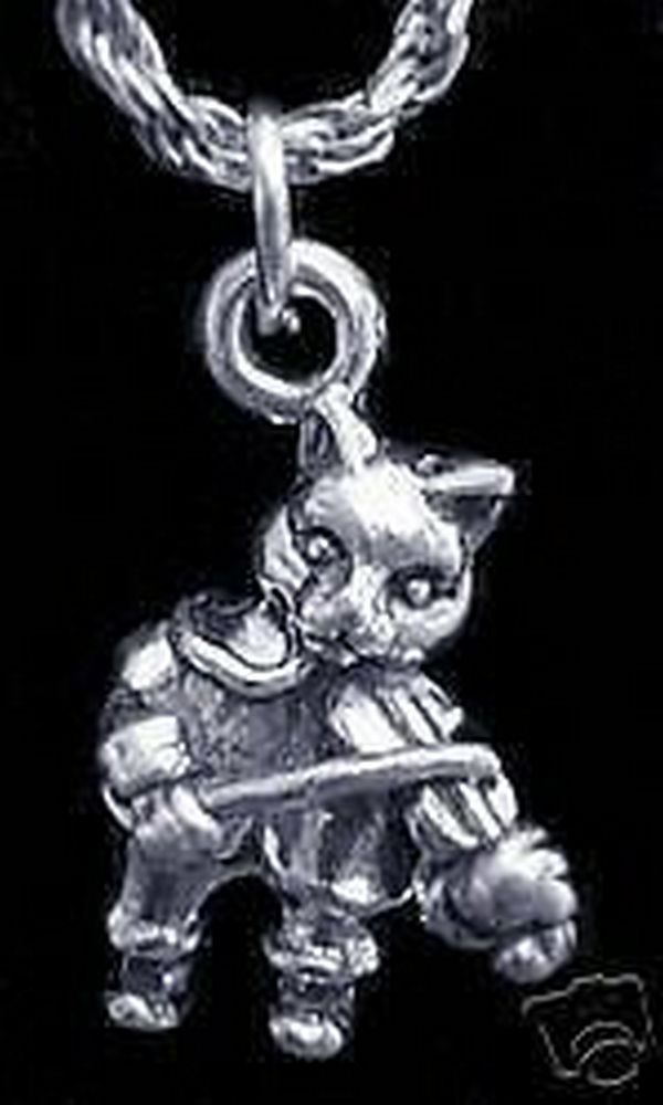 NICE 1830 CAT AND THE FIDDLE Charm Sterling Silver Jewelry