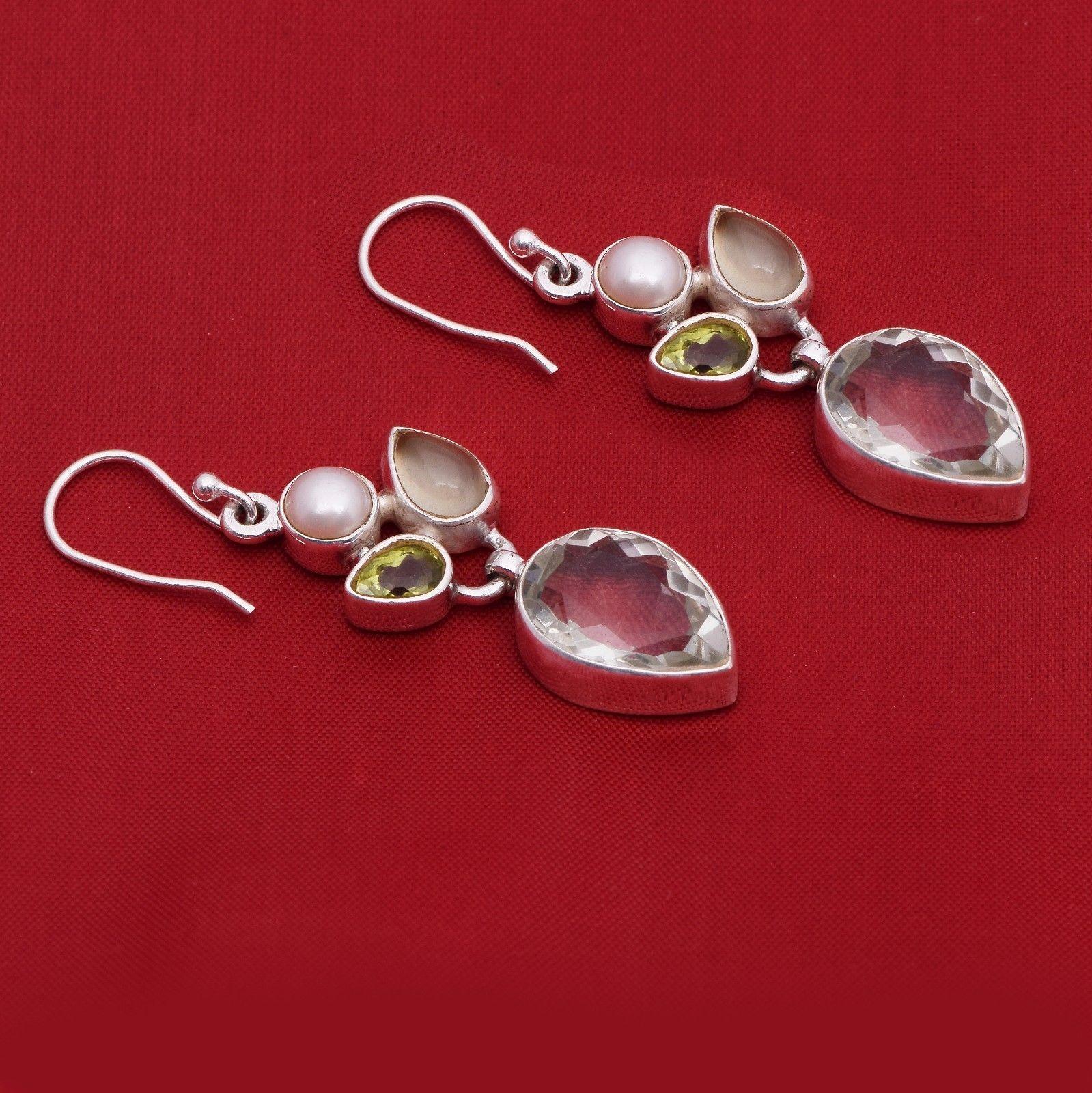 Green Onyx Gemstone 925 Sterling Silver Earring Shine Jewelry SHER0774