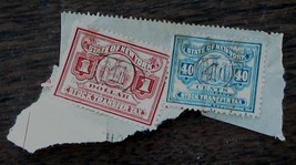 Nice Vintage Set of 2 Used New York Stock Transfer Stamps 1 and 40, GDC - $3.95