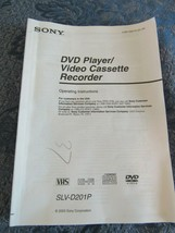 Sony SLV-D201P User Manual Operating Instructions DVD VHS - $19.86