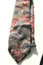 "Bill Blass Burgandy tan Men's 100% Silk Necktie 3.5 X 57"" USA Tie - $6.97"