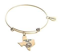 Bella Ryann Texas Charm Bangle Bracelet (gold-plated-base)