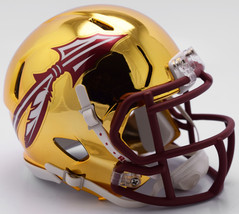 Florida State Seminoles Helmet Riddell Replica Mini Speed Style Chrome Alternate - $29.99