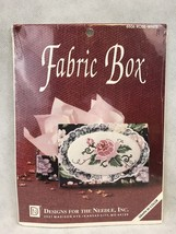 Designs For The Needle 6506 Rose White Fabric Box Vintage Cross Stitch Kit - $13.46