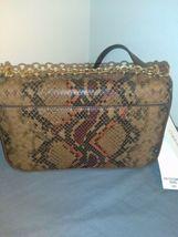 New Calvin Klein Snake Lock Shoulder Bag python-print crossbody H9DES9ZF $248.00 image 3