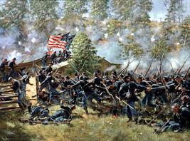 Role War Art oil painting printed on canvas home decor Burnside s Bridg - $12.99+
