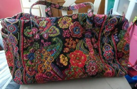 Vera bradley small duffel bag in retired Symphony in Hue Pattern - £37.96 GBP