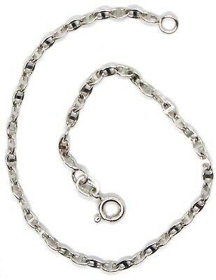 Bracelet or Blanc 18K 750, Jersey Marine, Bateau, Traverse Croisé