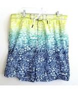 Speedo Multi Color Floral Tribal Print Swim Trunks Shorts Lined Mens XXL - £21.47 GBP