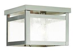 Livex Lighting 4051-91 Milford 2-Light Ceiling Mount, Brushed Nickel - $103.79
