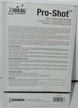 Neogen Ideal Instruments 1008 Pro Shot 50cc Pistol Grip Syringe Blue Clear image 2
