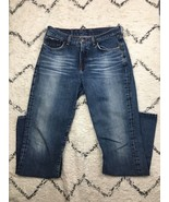 Lucky Brand 136 Jeans Women's Size 8 Peanut Pant Mid Rise Stone Wash Fla... - $25.98