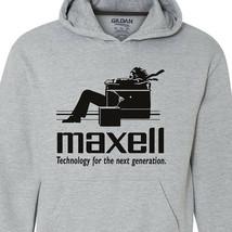 Maxell speakers Hoodie Logo retro 1980's Blown Away Man audio graphic sweatshirt image 2