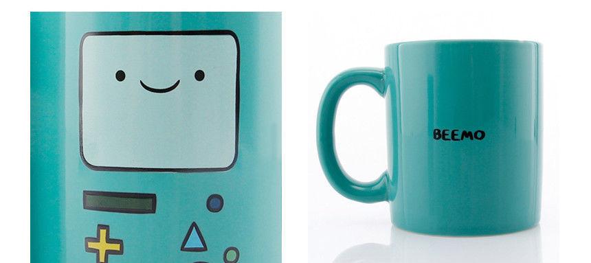 ADVENTURE TIME BEEMO Mug Cup BMO Coffee Beverages Green Tumbler Ceramics Gift