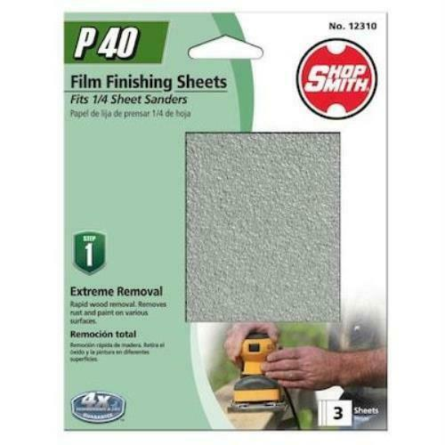 Shopsmith 3-Pack 4.5-in W x 5.5-in L 40-Grit Commercial Clamp-On Sanding Sheets - $4.75