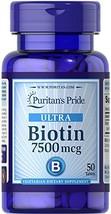 Puritan's Pride Biotin 7500 mcg-50 Tablets
