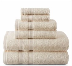 Home Expressions Solid 6 pc Cotton Bath Towel Set - $39.97