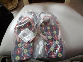Vera Bradley flip flops size medium in Sun Valley NWT - $16.50