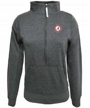 Small Women's Alabama Crimson Tide 1/2 Zip Sweatshirt NCAA Fleece Pullover NEW