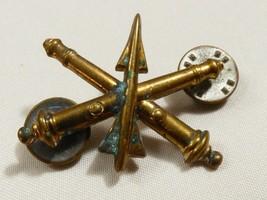 Vintage Us Army Artillery Brass Pin Tack Lapel N.S. Meyer Ny - $19.80
