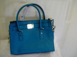 Michael Kors women Handbag, Hamilton Saffiano Leather EW Satchel teal - $138.55