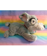 "Disney Store Lady and the Tramp Scamp Plush Toy Gray Puppy Dog 14"" - $19.75"