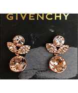 Signed Givenchy Rhinestone Pierced Earrings Retail 52.00 - $22.72