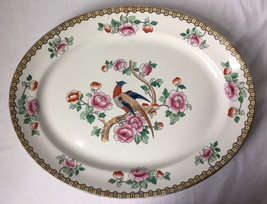 F Winkle Pheasant Oval Platter England Whieldon Ware c1925 Extra Large 1... - $139.95