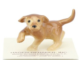 Hagen Renaker Dog Labrador Retriever Puppy Golden Ceramic Figurine image 1
