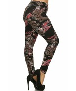 Buttery Soft Berry Plume Plus Size Leggings - 3X - 5X - $21.77