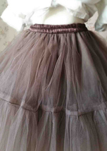 Lady MESH TULLE SKIRT Knee Length Layer Tulle Skirt Princess Skirt Crinolines  image 5