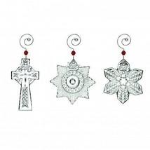 Waterford Crystal 2017 Mini Star Mini Snowflake Mini Cross 3 ornaments #40026614 - $123.75