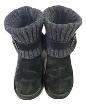 Ugg Australia Cambridge Women's Adjustable BOOTS Black 1003175 Size 8 Suede - $52.24