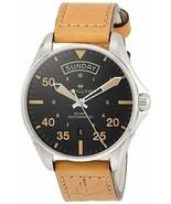 Hamilton Men's H64645531 Swiss Automatic Khaki Pilot Brown Leather 42mm ... - $582.12