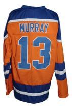 Custom Name # New York Raiders Retro Hockey Jersey New Orange Murray 13 Any Size image 2