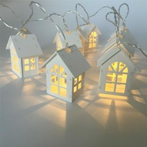 LED String Lights Christmas Indoor Decoration 10 Mini House Shaped Xmas ... - $19.92