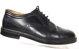 Clarks Black Brogue Captoe Casual Dress Shoes Oxfords Mens Size 8.5 M Fl... - $41.87