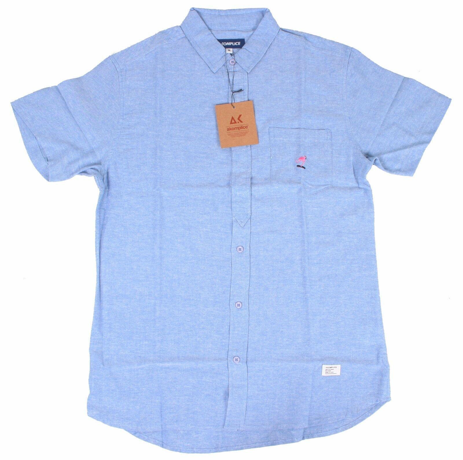 Akomplice Akman Short Sleeve Button-UP Men's Shirt NWT
