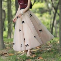 Handmade Champagne Tulle Skirt Outfit High Waisted Tulle Skirt Princess Skirt image 8