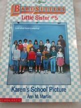 Scholastic Little Apple Babysitters Little Sister #5 Karen's School Pict... - $4.99