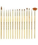 Beaute Galleria 15pcs Nail Brush Set For Detailing, Striping, Blending,... - $17.87