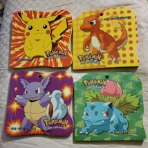 4 Pokemon Colored Notepads Pikachu Charmeleon Wartortle Ivysaur *Never U... - $55.95