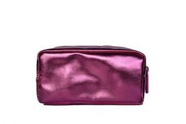Bare Minerals Escentuals METALLIC PINK Makeup Bag Cosmetic Case Sparkle NeW - $5.50