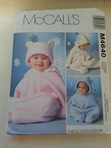 McCall's M4640 Infant's Bunting & Hat sizes Small-XLarge
