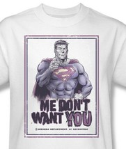 Bizarro T-shirt Free Shipping cotton graphic tee Superman superhero DC SM1732 image 2