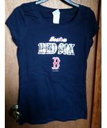 Baseball MLB Women Clothes Large Boston Red Sox Shirt Major League Sport... - $16.14