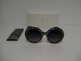 Womens PRADA sunglasses round with studded Style SPR29QSK TKF-OA7 authentic - $237.55