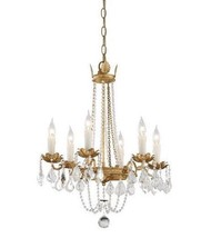 Visual Comfort Replica Petite Paris Flea Market Chandelier Empire Crystal & Gold - $489.81