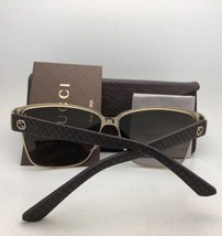 GUCCI Sunglasses GG 4233/S 6J7JD 62-12 Ivory White & Gold Aviator w/ Brown Fade